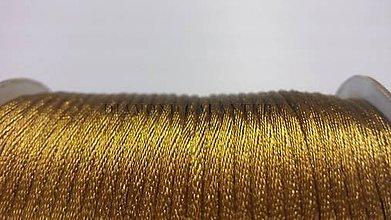 Galantéria - Saténová šnúrka zlatá 2,5 mm - 5568213_