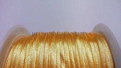 Galantéria - Saténová šnúrka 2,5 mm - 5568215_