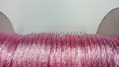 Galantéria - Saténová šnúrka 2,5 mm bledo ružová - 5568224_