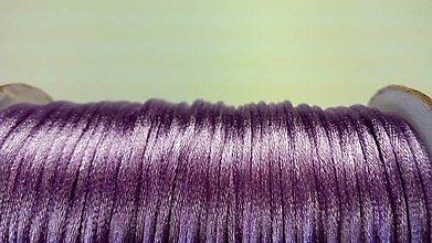 Galantéria - Saténová šnúrka 2,5 mm fialková - 5568243_