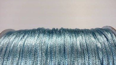 Galantéria - Saténová šnúrka 2,5 mm - bledo modrá - 5568271_