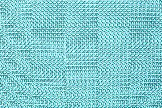 Textil - Tyrkysová látka s drobným vzorom - 5565987_