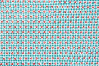 Textil - Bavlnená látka s kocôčkami a kvietkami - 5566065_
