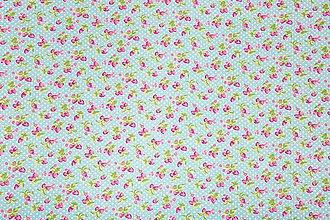 Textil - Bavlnená látka s jahôdkami - 5566135_