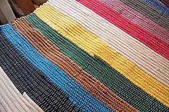 Úžitkový textil - Tkaný koberec pestrofarebný - 5565906_