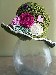 Detské čiapky - Rozkvitnutý klobúčik - 5569130_