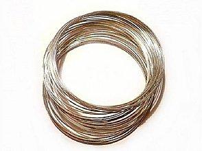Komponenty - Postriebrený medený drôt priem. 1 mm, 4 m, , - 5568371_