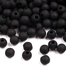 Korálky - Korálky matné 4 mm - 100 ks (čierna) - 5570927_