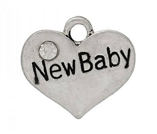 Prívesok srdiečko NEW BABY