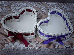 Košíky - Srdiečka - oblečené do farieb.. - 5569605_