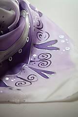 Šatky - Folklór fialový - 5571588_
