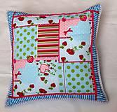 Úžitkový textil - Blue heart - vankúš - 5573779_