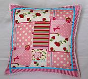Úžitkový textil - Pink heart - vankúš - 5573812_