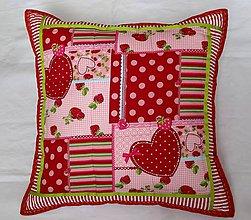 Úžitkový textil - Burgundy heart - vankúš - 5573824_