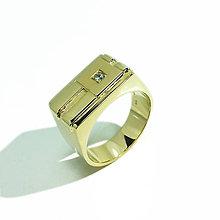 Prstene - Pánsky briliantový prsteň - 5572188_