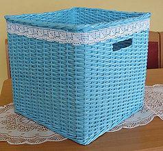 Košíky - Košík tyrkysovej farby - 5573047_
