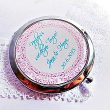 Darčeky pre svadobčanov - svadobné zrkadielko s ornamentom - text na želanie - 5573185_
