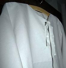 Oblečenie - Mužská bavlnená košeľa na šnurovanie - 5576849_
