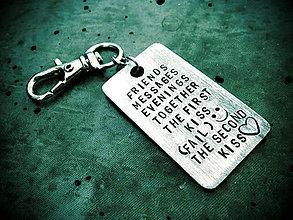 Kľúčenky - OBDĹŽNIK / 2mm hrúbka / obojstranne razený / cena za 1ks + 1ks mini skoba - 5576705_
