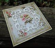 """Papiernictvo - Pohľadnica """"Romantické ruže"""" - 5576697_"""