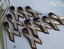 béžová & hnedá /svadobné pierka