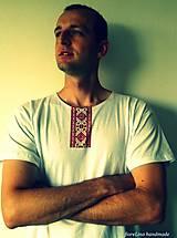 pánske folklórne tričko s výšivkou - I folk :)