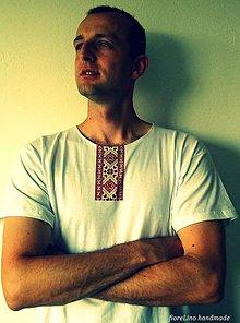 Oblečenie - pánske folklórne tričko s výšivkou - I folk :) - 5574682_