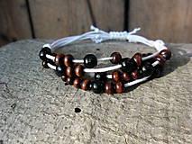 Náramky - Uzlíkový s drevenými korálkami - 5574152_