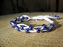 Náramky - Prepletaný bielo-modrý - 5574180_