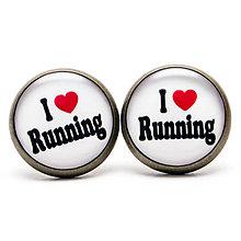 Náušnice - I ♥ RUNNING - 5575421_