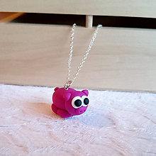 Náhrdelníky - purple pig - 5576595_