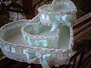 Košíky - Svadba - 3 srdiečka - 5574760_