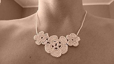 Náhrdelníky - Háčkovaný náhrdelník - 5576642_