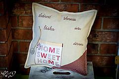 Úžitkový textil - Vankúšik pre pani učiteľku No.1 - 5577793_