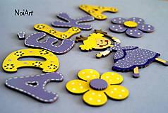 Detské doplnky - Drevené písmenká ADELKA - 5579156_