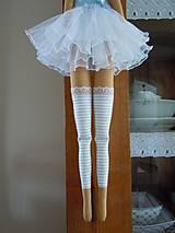 Bábiky - Modrá baletka - 5577869_