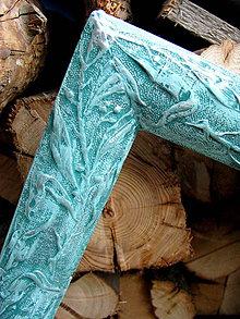Rámiky - Rám Simplicité Turquoise - predaný - 5577145_