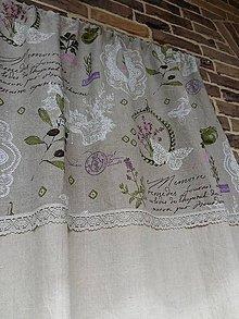 Úžitkový textil - Ľanový záves Provence - 5578592_