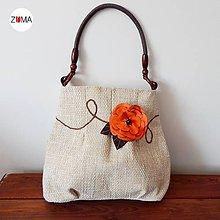 Kabelky - LENA Orange Flower - 5578079_