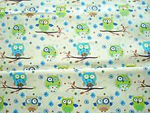 Textil - Látka sovičky - 5581500_