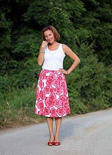 Sukne - Sukňa s protizáhybmi ruža ZĽAVA!!! - 5581471_
