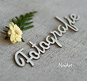 Materiál ručne robený - Papierový nápis Fotografie - 5583030_