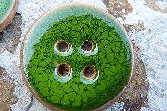Materiál ručne robený - Gombíky zelené* - 5581816_