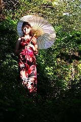 Šaty - Saténové s květy - 5582201_