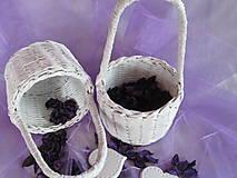 Košíky - Svadobný košíček - 5580346_