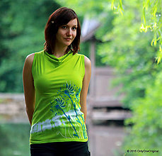 Tielka - Dámske tričko bez rukávov, šité, batikované a maľované Z JAZIERKA - 5580585_