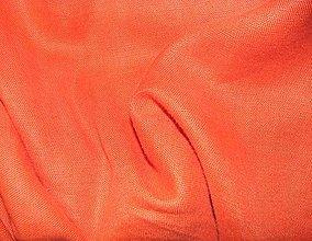Textil - Ľan oranžový hrubší - 5580235_