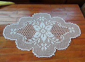 Úžitkový textil - Filetová dečka s kvetmi - 5580179_