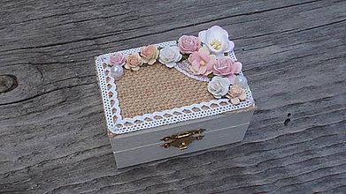Krabičky - Krabička na prstienky ,,V záplave kvetov\