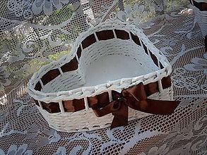 Košíky - Srdiečko čokoládové - svadobné - 5581507_